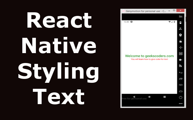 How to Style Text in React Native
